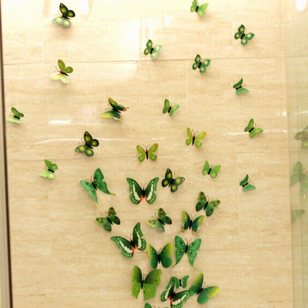 HQdeal 3D Colorato Farfalla Adesivo da Parete Removibile ...