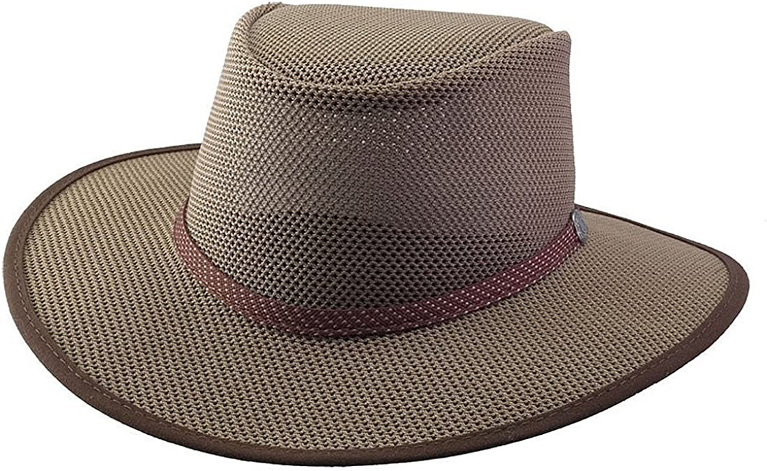 Head 'N Home Handmade Hats - SolAir Brand Cabana Walnut Breathable Mesh Sun Hat