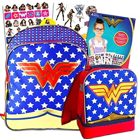 a4714f91ab2e Super Hero Girls Backpack and Lunch Box Set -- Deluxe 16 quot  Backpack  with Insulated