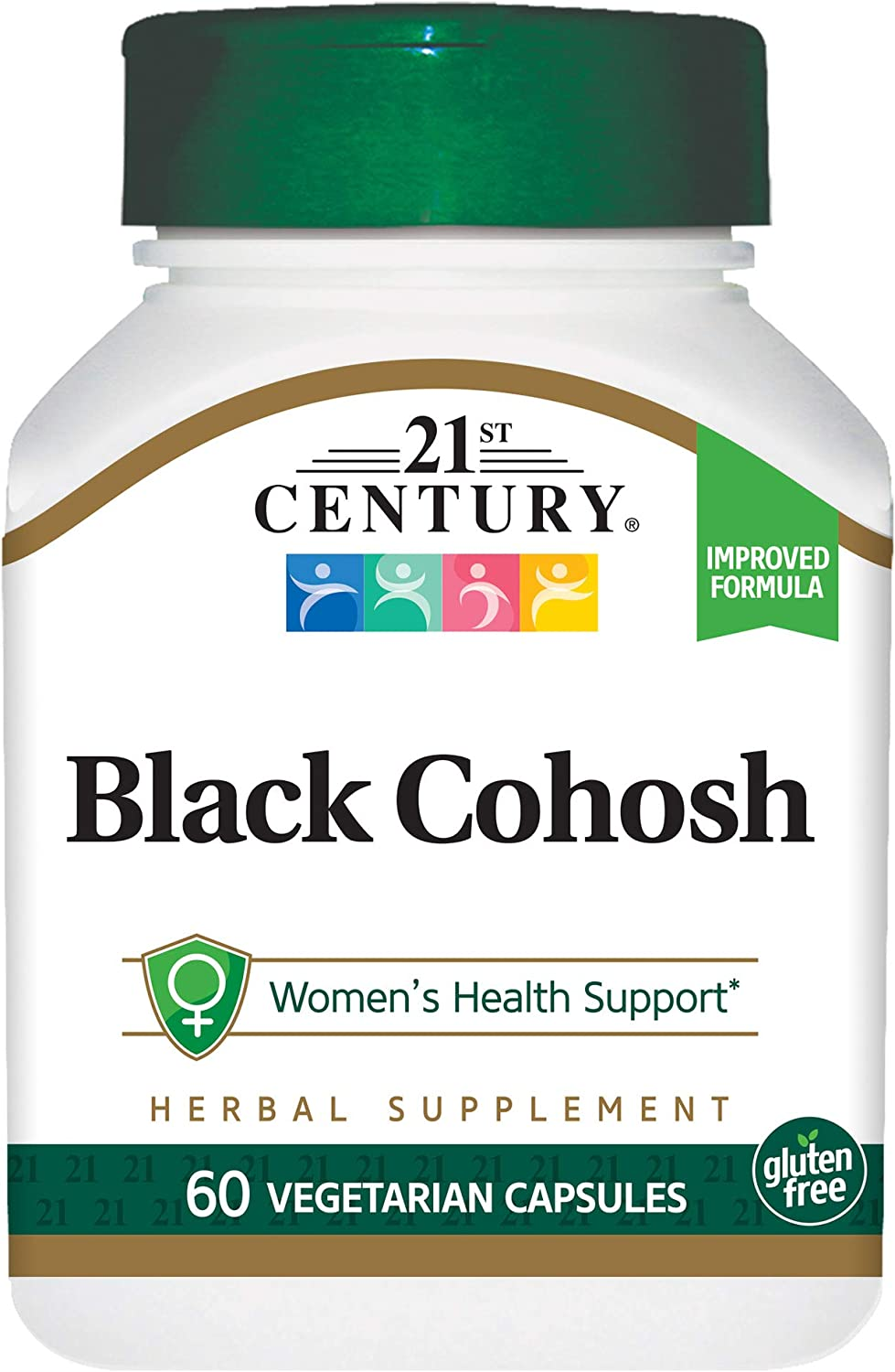 21st Century Black Cohosh and Soy Isoflavones Veg Capsules, 60 Count: Health & Personal Care