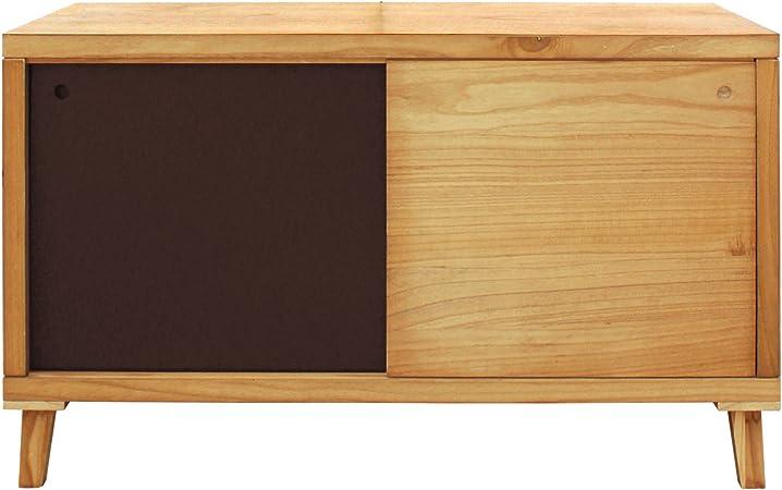 Mobili Rebecca® Mueble auxilia Armario Bajo Pasillo Salón 2 Puertas Correderas Madera Marrón Design Moderno (Cod. RE6056): Amazon.es: Hogar