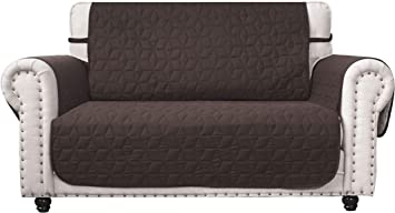 Kids Ameritex Loveseat Cover Water-Resistant Quilted Furniture Protector with Back Nonslip Paws Slipcover for Dogs Pets Loveseat Slipcover Stay in Place for Leather