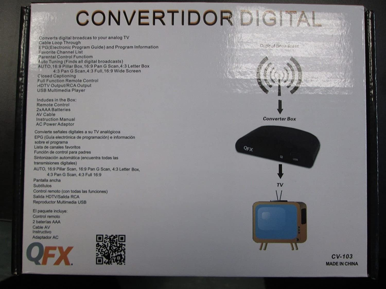Amazon.com: TopOne QFX Digital Converter Box CV 103 New: Home Audio & Theater