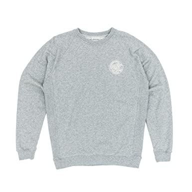 Santa Cruz Sudadera Raglán Backhander Dark Heather (M, Gris)