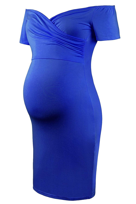 Fuera del Hombro Dress Fiesta de Maternidad Rodilla Larga Molliya Mujer Embarazada Vestido
