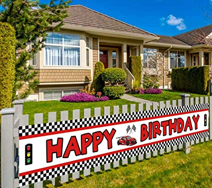 Amazon.com: Colormoon - Pancarta de cumpleaños: Toys & Games