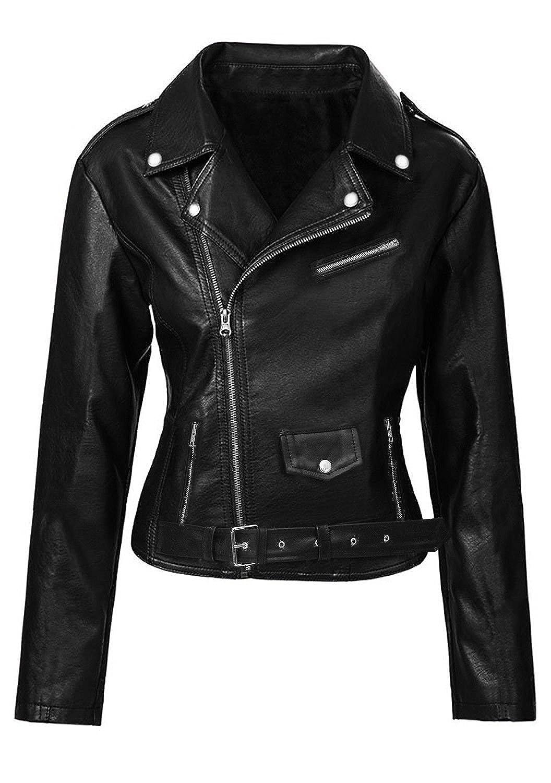 Womens Riverdale Southside Serpents Slimfit Hi Quality Black Geniune /& Faux Leather Jacket