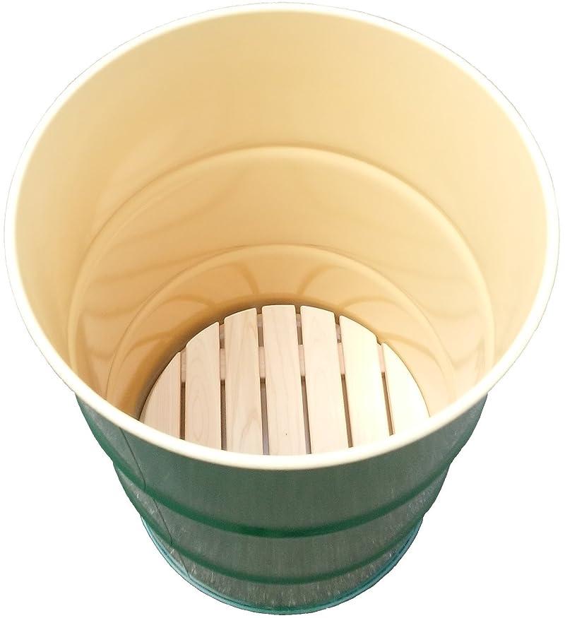 ドラム缶風呂セット/鋼製ドラム缶・新品檜すのこ(風呂底板)付