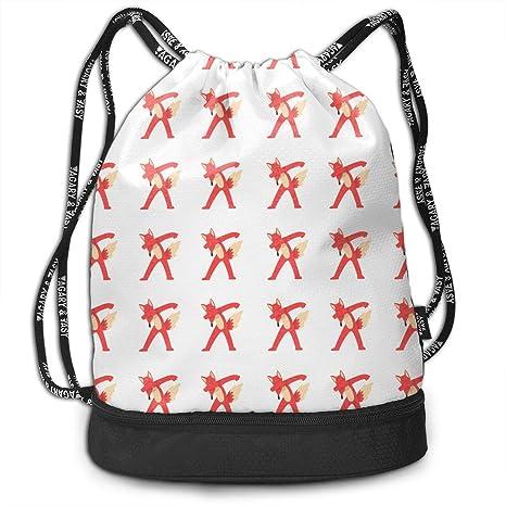 a5d5ae16833d Amazon.com: Adair Guy Unisex Drawstring Backpack Funny Dabbing Cute ...