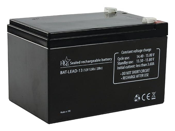HQ BAT-LEAD-13 batería recargable - Batería/Pila recargable (Universal, Plomo-ácido, Negro, 105 x 160 x 108 mm)