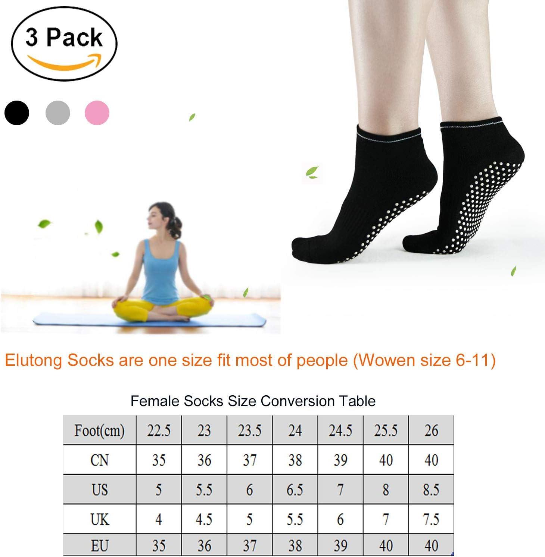 HYCLES Grips 3 Pares de Calcetines Antideslizantes Gruesos para Ballet Yoga Pilates Invierno Calcetines c/álidos
