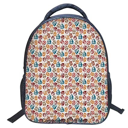 875530e90f69 Amazon.com: Print Laptop Backpack Book Bag School Bags Travel Day ...