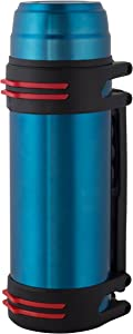 Wealers Large Stainless Steel Double Wall Vacuum Insulated Beverage Bottle, Coffee Soup Holder, Featured a Wide Top Opening, Comfortable Handle with a Plastic Drinking Mug