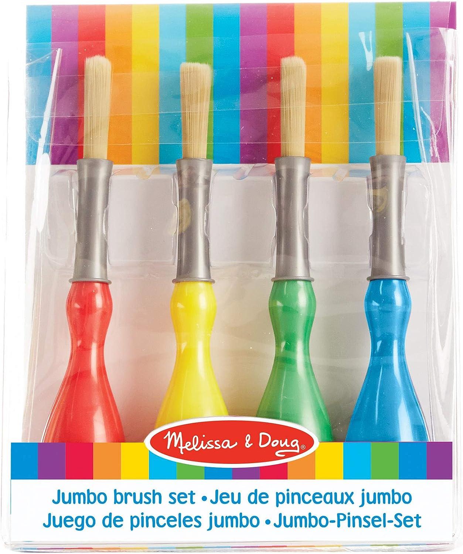 Melissa & Doug- Jumbo Set de 4 Pinceles, Multicolor (4118) , color/modelo surtido