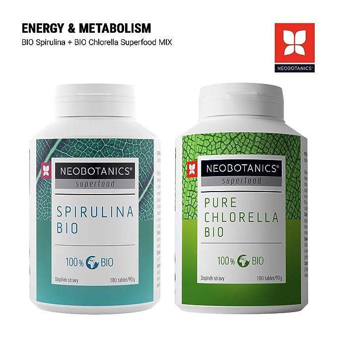 NEOBOTANICS® Premium Organic Chlorella Tablets - Bio Chlorella para la desintoxicación natural del cuerpo - Alto contenido de clorofila - Vegetariano ...