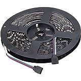 NEWSTYLE Black PCB 5050-RGB-LED-Strip 16.4FT SMD Water-Resistant 300LEDs RGB Flexible LED Strip Light Lamp