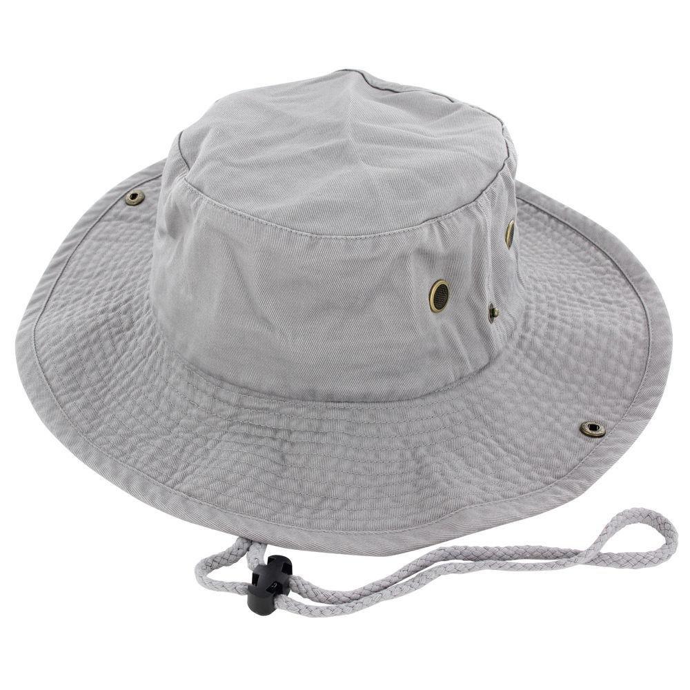 9Proud Gray Cotton Hat Boonie Bucket Cap Summer Men Women by 9Proud
