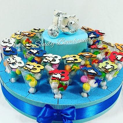 Idea Bomboniera Torta Coni Plexiglass 18esimo Compleanno 18 Anni
