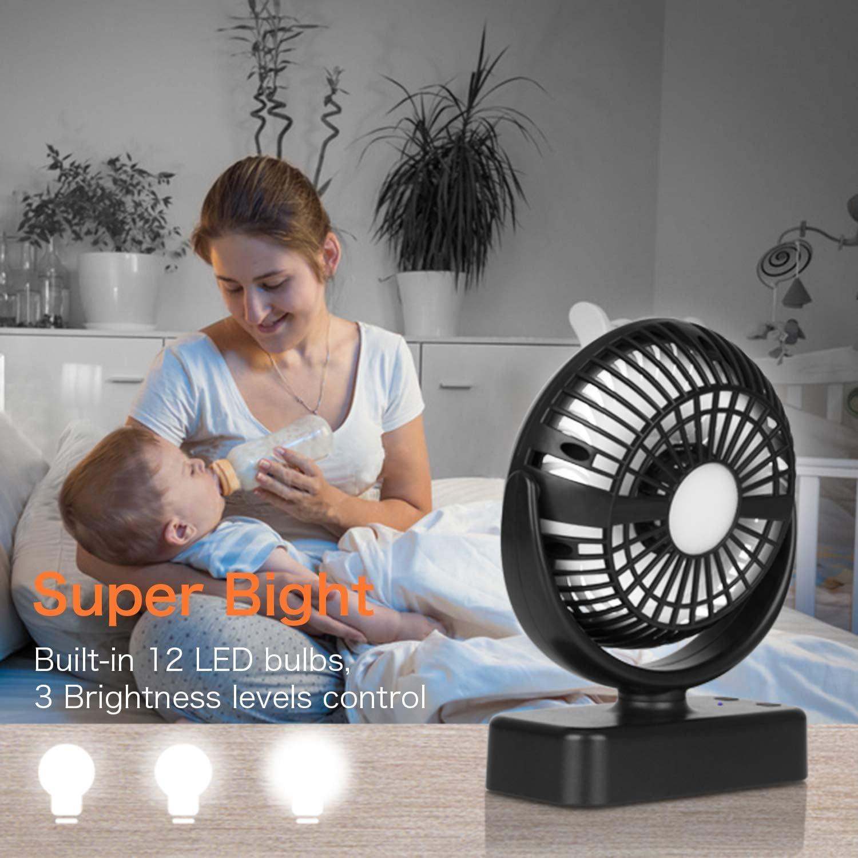 COMLIFE-Ventilateur-de-Camping-avec-Lampe-LED-Ventilateur-Portable-avec miniature 2