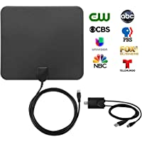 Nisgear 50-Mile Amplified HDTV Antenna (Black)