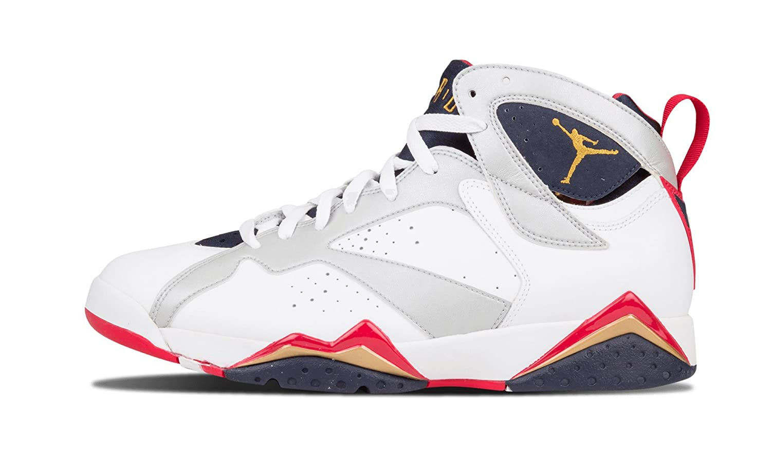 uk availability 0961d 24b56 NIKE Mens Air Jordan 7 Retro Olympic Leather Basketball Shoes