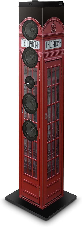 BigBen TW7TB - Torre de sonido multimedia con Bluetooth, diseño London
