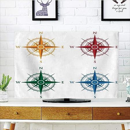 Cubierta de polvo para televisor LCD, brújula, diseño antiguo de ...