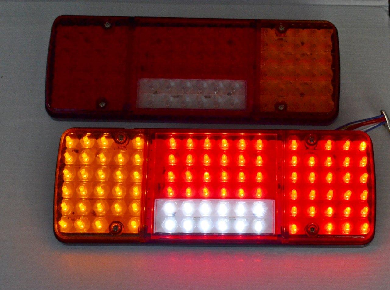 2/x arri/ère 12/V LED 5/Fonctions Design ultra fin pour camion remorque basculant pour ch/âssis LKW pour caravane Camion Camper