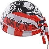 GWELL Bandana Cap Atmungsaktiv Kopftuch Skelette Leopard Bikertuch UV Schutz Fahrrad Erwachsene Radsport