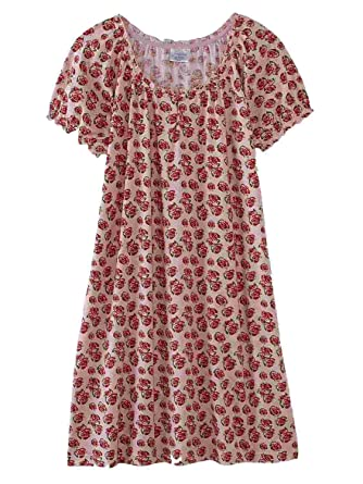 577c5935d0 Fundamentals Womens Pink Rose Sleep Shirt Nightgown at Amazon ...