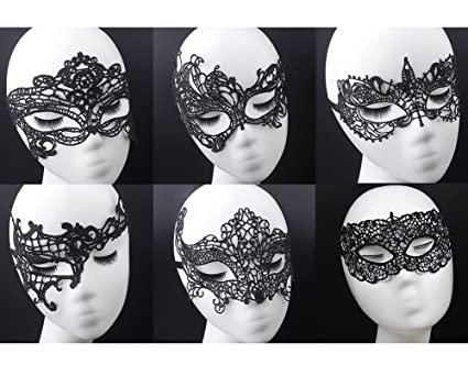 amazon com geek m women s black lace mask party ball masquerade