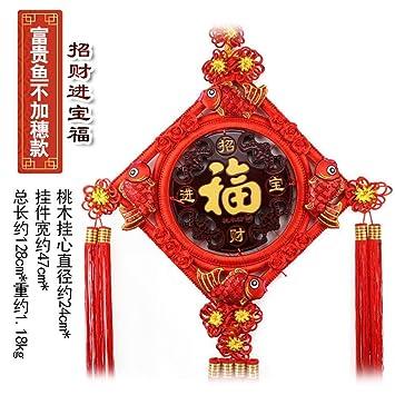 MGZDH La Chine Noeud Pendentif Salon Grand Noyer fu Mot décoration ...