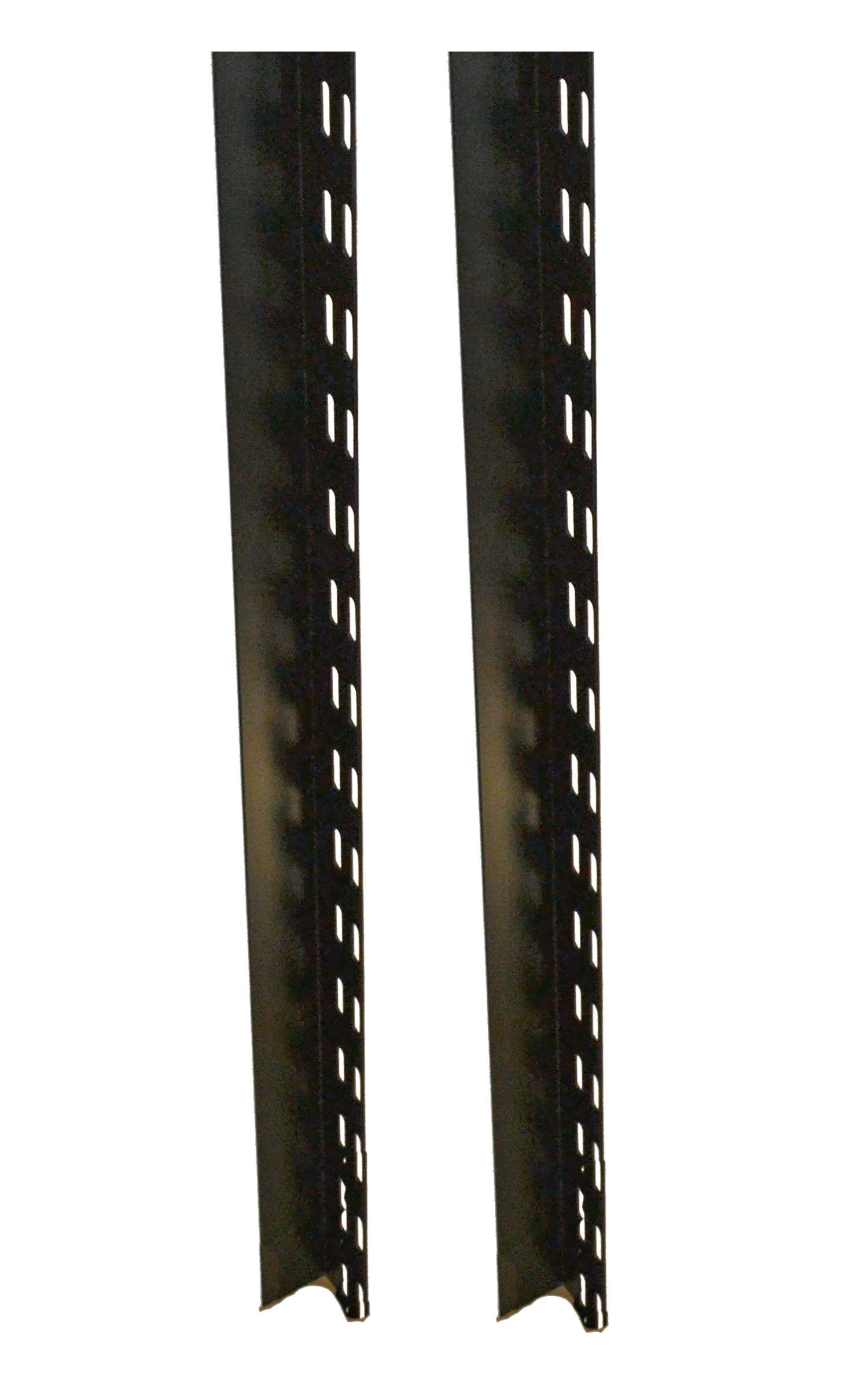 BUD Industries CSB-8180 14 Gauge Steel Chassis Support Bracket, 33'' Length x 1-45/64'' Height, Black Finish