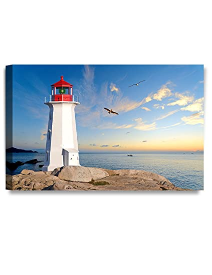 "3b99aa01fb4aa DECORARTS - ""Lighthouse - Personalized Canvas Prints Artwork, Includes  Names and The Special"