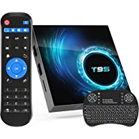 Android TV Box 10.0,Allwinner H616 4GB RAM 32GB ROM Android Stream TV Box with Mini Wireless Backlit Keyboard,Support…