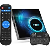 Android TV Box 10.0,Allwinner H616 4GB RAM 32GB ROM Android Stream TV Box with Mini Wireless Backlit Keyboard,Support Dual Wi