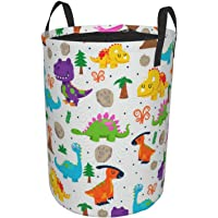 Children dinosaur Variety Laundry Basket, Canvas Fabric Collapsible Organizer Basket for Laundry Hamper, Toy Bins, Gift…