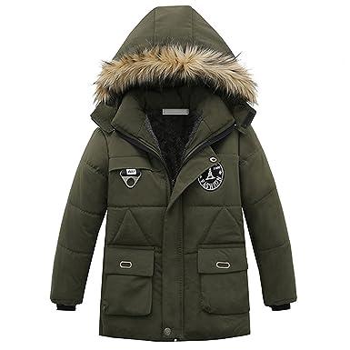 cb17181b172b Amazon.com  MRxcff Children Clothing Winter Boys Coats Long Sleeve ...