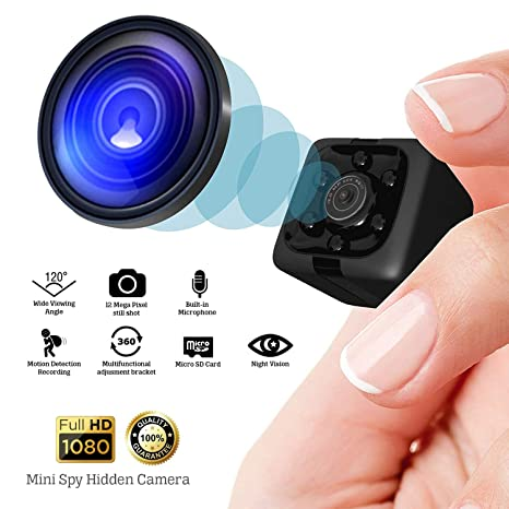 Mini Spy Hidden Camera - Shop360z Security Nanny Dash Cam with Motion Detection and Night Vision