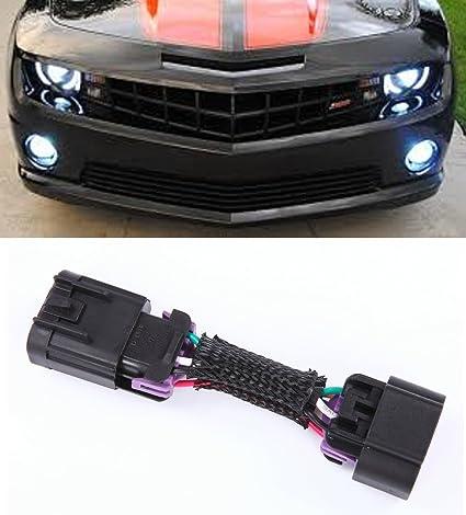 amazon com muzzys 2010 2013 chevrolet camaro drl headlights rh amazon com 2010 camaro fog light harness 2015 camaro fog light wiring harness