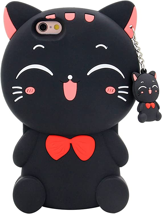 Gato iPhone 6 Y 6s Funda Carcasa Kawaii Cute Video Juego Cat