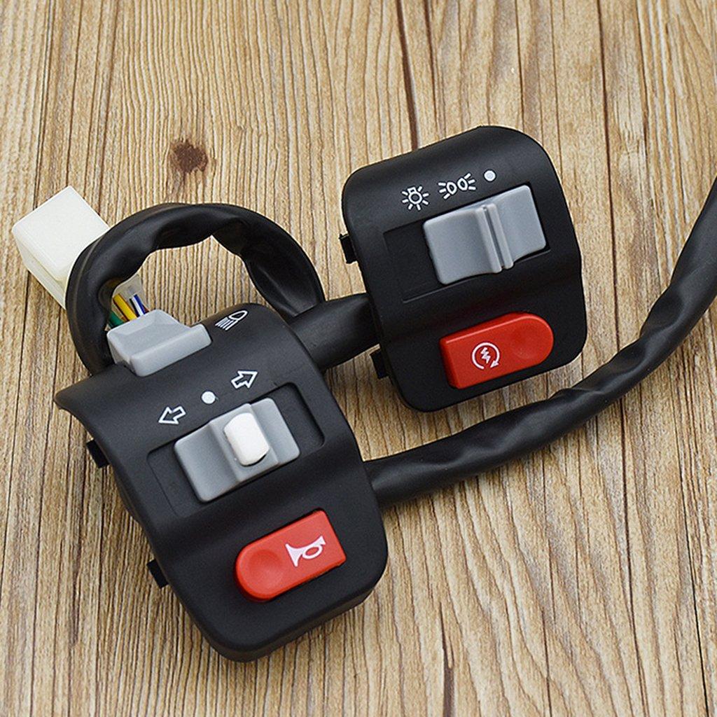 Sharplace Pannello Interruttore Manubrio Faro Indicatore Corno Per Moto Sporcizia Scooter