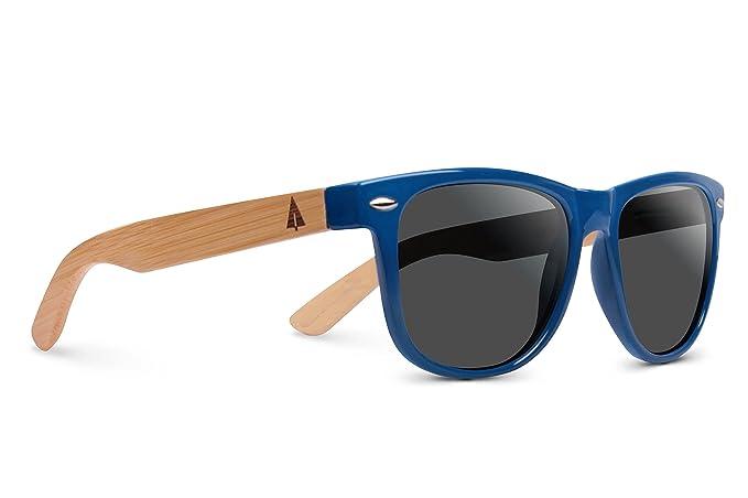 TREEHUT Wooden Bamboo Sunglasses Temples Classic Wayfarer Retro Square Wood Sunglasses