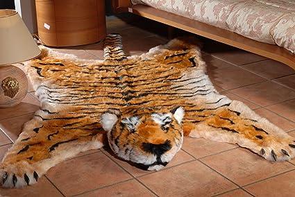 Amazon Com Fake Faux Fur Tiger Skin Tigerskin Plush Rug King Size