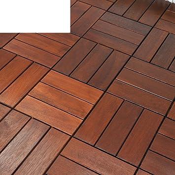 Jardín de piso al aire libre, balcón, suelo para el sol, piso de madera: Amazon.es: Bricolaje y herramientas