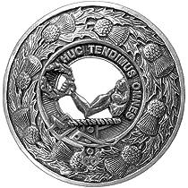 Wallace Clan Scottish Highlanders Plaid Brooch