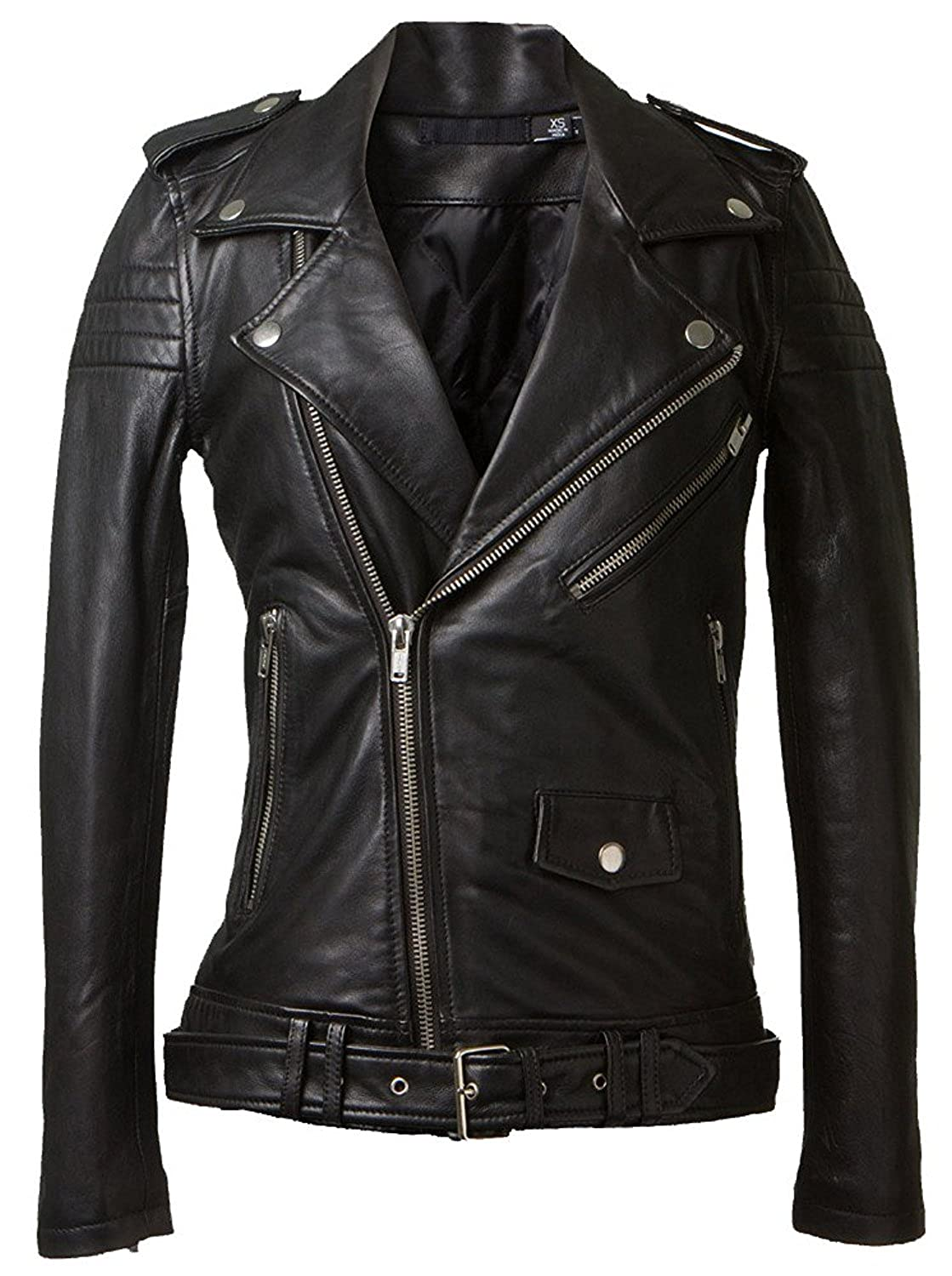 Cosplay Genuine Leather Jacket for Women - Lambskin Leather