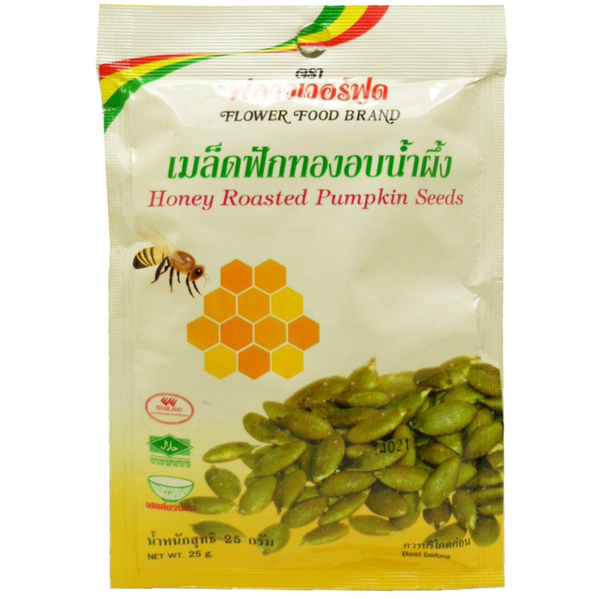 Honey Roasted Pumpkin Seeds Snack Net Wt 25 G (0.88 Oz) X 5 Bags Organic Herbal Food