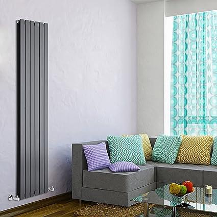 Hudson Reed TDRASP23 - Radiador Calentador Diseño Vertical Ultra Plano con Doble Panel - Acero -