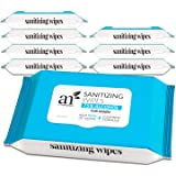 Artnaturals Cleansing Wipes - (8 Pack x 50CT), 75% Alcohol Hand Sanitizing, Unscented, Travel Size, Cleaning Wet Wipe…